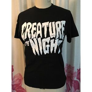 Creature of the night black graphic tee